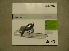 INSTRUCTION OWNERS MANUAL FOR STIHL MS251 CHAINSAW    -------   MAN71A