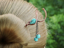 Twist Copper Turquoise Hair Stick Hair Clip Hair Accessories Women Hair Jewelry