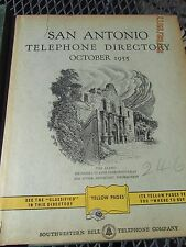 1955 SAN ANTONIO TEXAS Telephone Directory Phone Book Hard Cover HOTEL MENGER