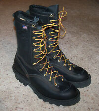 """NEW DANNER 18102 FLASHPOINT II BLACK FIRE RESISTANT USA MADE 10"""" BOOTS, 10.5 D"""