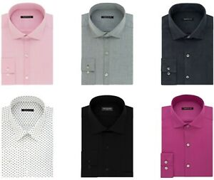 Van Heusen Slim-Fit Dress Shirt Mens Long Sleeve Button Cuff Casual Button Front