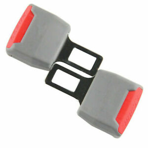 2x Universal Car Seat Belt Buckle Extension Grey Extender Clip Alarm Stopper