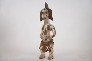 "Unusual Punu Inspired Statue 21"" - Gabon - African Art"
