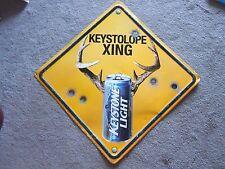 Rare KEYSTOLOPE XING Buck Deer Horn KEYSTONE BEER Bullet Hole SIGN Man Cave Bar