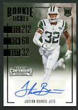 Juston Burris #267 signed autograph auto 2016 Panini Contenders Rookie Ticket