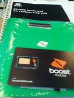 New Boost Mobile Black 64K sim card activation kit For IDEN phones only