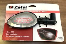 New Zefal LED Cyclops Bicycle Mirror Light Integrated 360 Rotation
