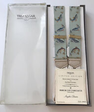 *MENS BRACES SUSPENDERS BY TRAFALGAR LIMITED EDITION OF ONLY 1000 ANGLERS DREAM*