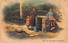 BR99466 kells st columbkill s holy well postcard painting  uk