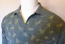 TOMMY BAHAMA Polo Shirt, Tropical Green Copyrighted Print, M, Cotton