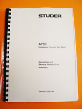 Studer A730 Operating Service Manual