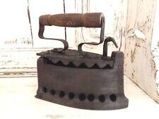 Antique 1800's Iron. Cast Iron Clothes Iron. Primitive Decor. Old Coal Iron.