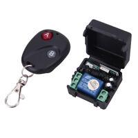 Funk Wireless Relais RF DC12V 433MHz Fernbedienung Schalter Sender +Empfänger