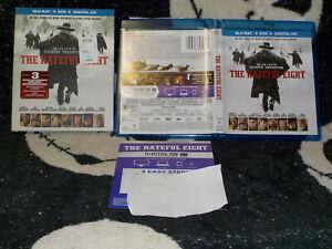 The Hateful Eight Blu Ray +DVD +Slipcover +Insert Quentin Tarantino Free Ship