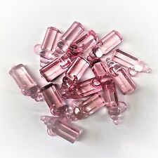 10 x Baby Pink Plastic Baby Bottle Charms, BABY SHOWER, Dummy Clips