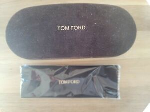 Tom Ford Sunglasses Eyeglasses Optical Small Brown Suede Hard Shell Case Cloth