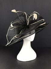 Black With Cream Trimmed Hat (363)