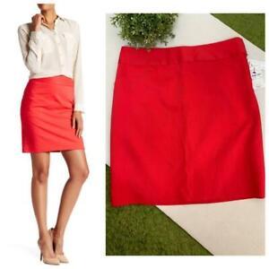 Amanda+Chelsea Contemporary Split Back Pencil Mini Skirt Sz 8 Coral Red