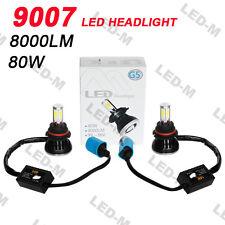 New G5 9007 80W 8000LM 6000K COB LED Headlight White Kit Hi/Lo Beam bulbs Lamp
