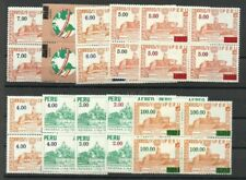PERU Yvert # 425 A8/436, Blocks of 4, Complete Set MNH, FVF, RARE!!
