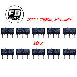 10PCS OMRON Mouse Micro Switch Microswitch D2FC-F-7N(20M) Mouse Button Fretting