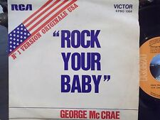 45$ FRENCH IMPORT PICTURE SLEEVE ROCK YOUR BABY X 2 GEORGE McCREA
