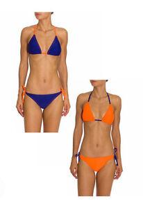 Costume 2 pezzi Triangolo Donna ARENA Bicolore Blu / Arancio Bikini