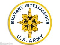 "4"" ARMY MILITARY INTELLIGENCE HELMET BUMPER EMBLEM DECAL STICKER MADE IN USA"