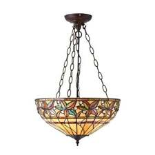 ASHSTEAD TIFFANY LARGE INVERTED CEILING PENDANT IN AUTUMNAL COLOURS 66401