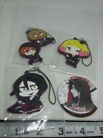 4pc Angels of death academy figure keychain strap charm anime Japan kawaii lot