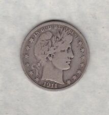 More details for 1911s usa silver half dollar in used fine condition