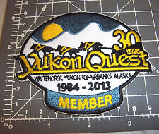 2013 Alaska Yukon Quest 1000 mile Dog Sled Race Embroidered Patch - MEMBER
