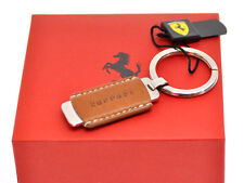 Ferrari official key-holder portachiavi steel & leather new in box