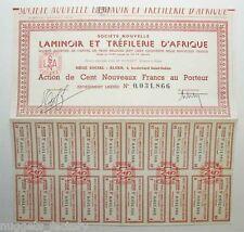 Action ancienne : Sté Nouvelle Laminoir et Tréfilerie d'Afrique ( 614 )