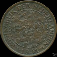 1941 Netherlands 2 1/2 Cent Coin