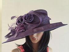 ISPIRATO CONDICI RICH GRAPE MAUVE hat wedding ascot  mother of the bride