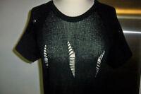 ROBE PULL MAILLE H&M DIVIDED TBE 36 VINTAGE RETRO DRESS HM destroy punk trous
