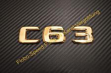 Schriftzug Emblem Typenschild AMG C63 CLS63 C ML63 S65 CL63  E63 vergoldet Gold