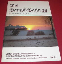dachbodenfund zeitschrift die dampf ulmer bahn freunde zollernbahn heft 1982 alt