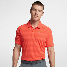 Nike Zonal Cooling Men's Standard Fit Golf Polo M Orange Silver Casual Gym New