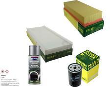 MANN-FILTER Paket + Presto Klima-Reiniger für Audi Cabriolet 8G7 B4 80 8C 89 8B