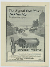 1919 Buell Mfg. Co. Ad: Buell Explosive Car Whistle - Cottage Grove Ave. Chicago