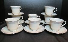 Lenox Charleston 8 Footed Cups and 8 Saucers Cosmopolitan Collection