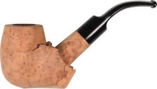 1 SINGLE BRIAR BLOCK PARTLY SHAPED BENT PIPE w STEM / MAKE YOUR OWN PIPE