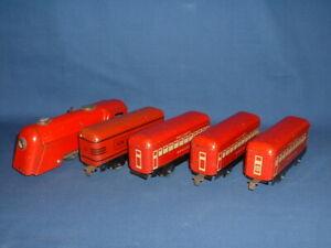 Marx O-Gauge Commodore Vanderbilt Windup Railroad Train Passenger Set