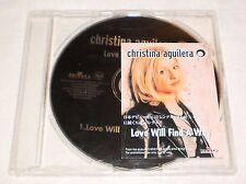 Christina Aguilera Love Will Find A Way JAPAN PROMO CD Single RARE HTF