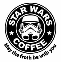 Star Wars Coffee Comedy vinyl car Decal / Sticker