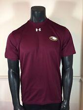 Under Amour Men's Tech Short Sleeve Maroon T-Shirt Size L