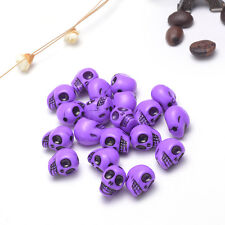 Acrylic loose beads wholesale and retail 12 * 12mm color Skull beaded jewelry ZS