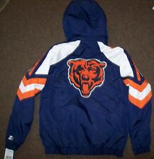 CHICAGO BEARS STARTER PRO LINE Hooded Winter Jacket 3X 4X 5X 6X BLUE